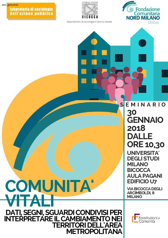 Seminario: Comunità vitali. Dati, segni, sguardi condivisi per interpretare il cambiamenti nei territori dell'area metropolitana